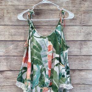 Lauren Conrad xl beach flowy shirt XL